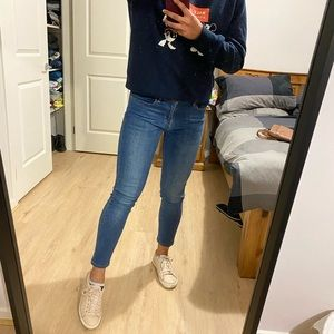 Levi's 710 Super Skinny Mid Blue Jeans W30